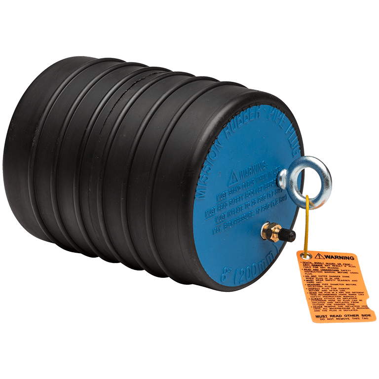 Flo bloc inflatable test plugs archives mission rubber llc