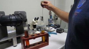 Mission Rubber Oil Immersion (IRM 901 & IRM 903) Test: measuring compatibility/resistance against oils, greases, and water, ensuring consistency in rubber formulation.
